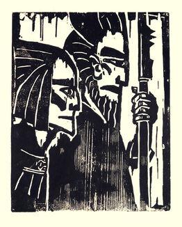 Emil Nolde,  Ziehende Krieger