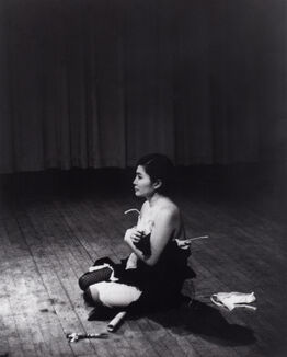 Yoko Ono, Cut Piece (1964) performed by Yoko Ono in New Works of Yoko Ono, Carnegie Recital Hall, New York, March 21, 1965