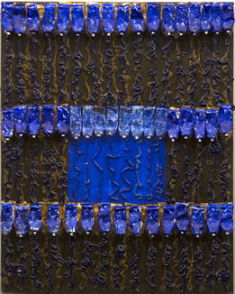 Arman, Untitled (Blue Over Brown)
