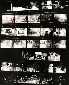 Robert Frank, Contact Sheet #38 (Backyard, Venice West, California)