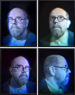 Chuck Close, Self Portrait Holograms