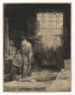 """Rembrandt van Rijn, A Scholar in His Study (""""Faust"""")"""