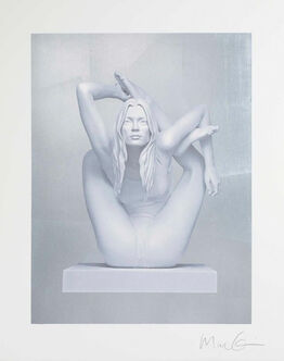 Marc Quinn, Kate Moss on Silver