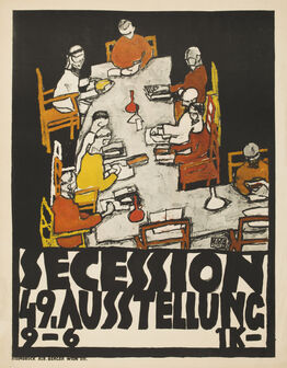 Egon Schiele, Poster for the 49th Secession Exhibition