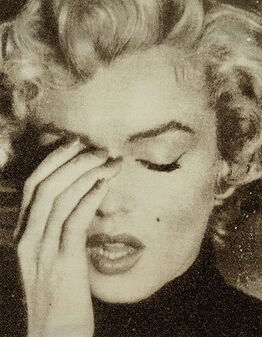 Russell Young, Marilyn Crying (Gold Diamond Dust)