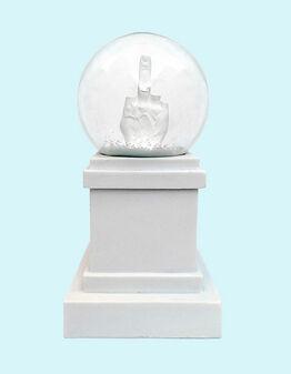 Maurizio Cattelan, L.O.V.E. Snow Globe