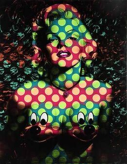 Ron English, Splash Marilyn Mickeys Wave Dot Pattern; Wave 1: Green / Dark Blue; Wave 2: Peach / Maroon