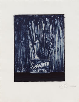 Jasper Johns, Savarin 6 (blue)