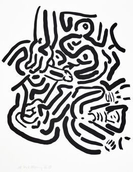 Keith Haring, Keith Haring, Bad Boys, 1986, portfolio of 6 screenprints.