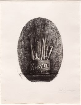 Jasper Johns, Savarin 4 (Oval)