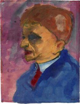Emil Nolde, Männliches Portrait (Vermutlich Max Sauerlandt)