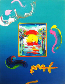 Peter Max, BETTER WORLD (OVERPAINT)