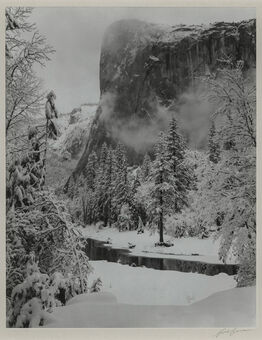 Ansel Adams, El Capitan, Winter, Yosemite National Park