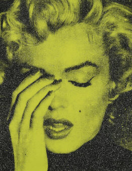 Russell Young, Crying Marilyn on Green Yellow Diamond Dust