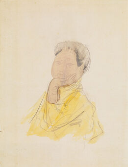 Auguste Rodin, Portrait of Cambodian Female Dancer (Princess Sumphady?)