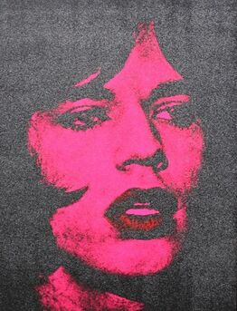 Russell Young, Mick Jagger DVII (Hot Pink + Black + Red Lips)