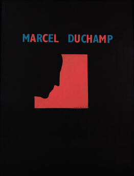 Marcel Duchamp, Poster after Self-Portrait in Profile