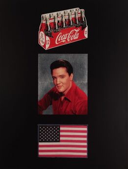Peter Blake, American Trilogy, Black/Silver Gloss