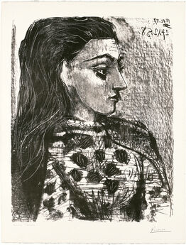 Pablo Picasso, Buste au Corsage à Carreaux