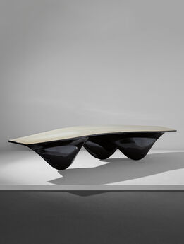 "Zaha Hadid, Black ""Aqua"" table"