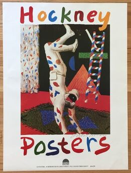 "David Hockney, Signed 1987 Color Lithographic Poster, ""Hockney Posters"""