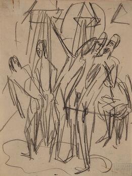 Ernst Ludwig Kirchner, Soldatenbad (Bathing Soldiers)