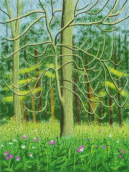 David Hockney, The Arrival of Spring in Woldgate, East Yorkshire in 2011 (twenty-eleven) – 4 May, 2011
