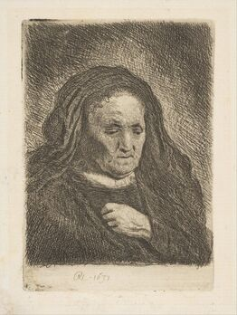 Rembrandt van Rijn, The Artist's Mother with Her Hand on Her Chest