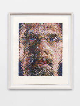 Chuck Close, Self-Portrait Woodcut