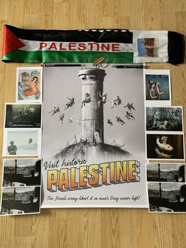 Banksy, ORIGINAL BANKSY PALESTINE POSTER ONLY 2000 EXCLUSIVELY PRODUCED FOR LDN EXPO
