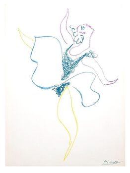 Pablo Picasso, Pablo Picasso - The Ballet Dancer - Original Lithograph