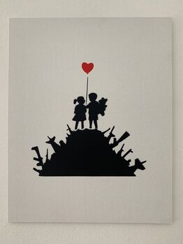 "Banksy, BANKSY DISMALAND "" KIDS WITH WEAPONS"" WITH COA"