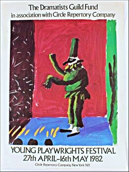 David Hockney, Young Playwright's Festival, from the collection of Anthony Haden-Guest (Hand signed)