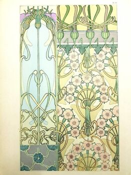 """Alphonse Mucha, Original Lithograph """"Flowers I"""" by Alphonse Mucha"""