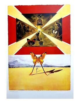 """Salvador Dalí, Original Lithograph """"Roussillon"""" by Salvador Dali"""