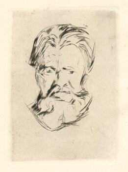 Edvard Munch, Portrait Study (Head of a Man)