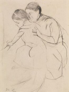 Mary Cassatt, Baby with Left Hand Touching a Tub