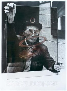 Marcel Duchamp, The Oculist Witnesses (from a photograph taken by Richard Hamilton) vintage poster