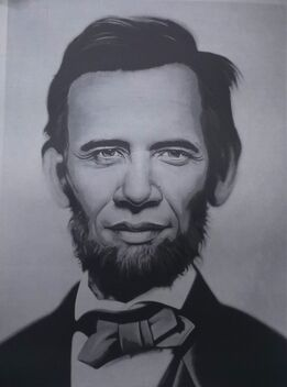 Ron English, Obama Lincoln Grey