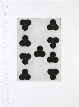 Donald Sultan, Playing Cards (Nine of Clubs)