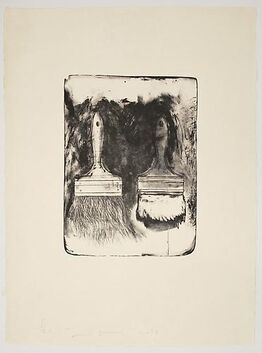 Jim Dine, Brushes Drawn on Stones #3