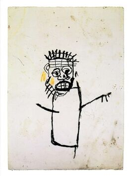 Jean-Michel Basquiat, Basquiat at Robert Miller Gallery New York 1990 (vintage Basquiat announcement))