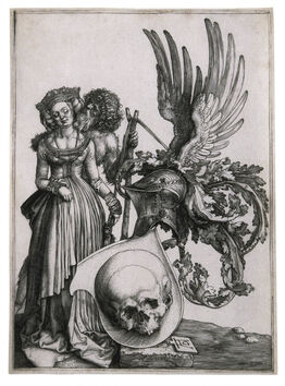 Albrecht Dürer, Coat of Arms with a Skull