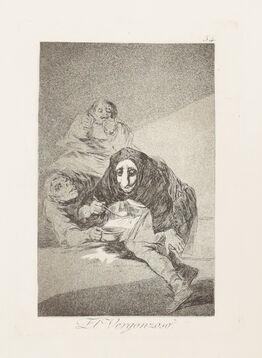 Francisco de Goya, El Vergonzoso (Plate 54) (Los Caprichos Series)