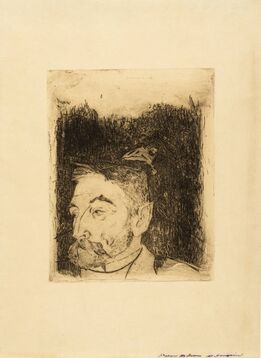 Paul Gauguin, Portrait de Stéphane Mallarmé (Mongan/Kornfeld/Joachim 12 II Ba)