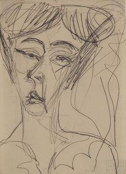 Ernst Ludwig Kirchner, Frauenkopf (Head of a Woman)