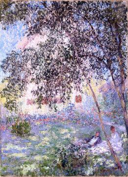Claude Monet, Le repos dans le jardin, Argenteuil