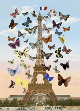 Peter Blake, Eiffel Tower - Signed Limited Edition 3D Lenticular