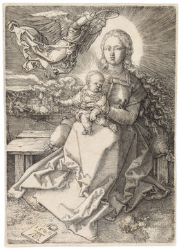 Albrecht Dürer, MADONNA CROWNED BY ONE ANGEL
