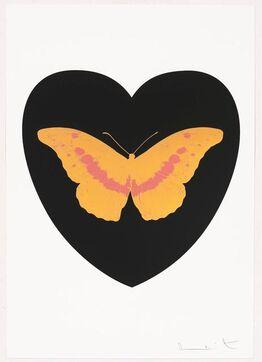 Damien Hirst, I Love You - black, cool gold, loganberry